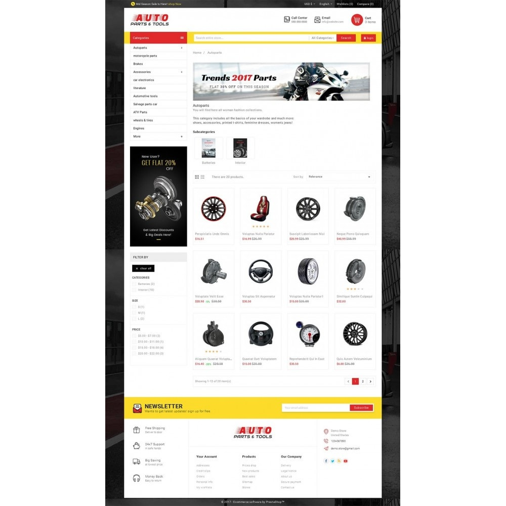 theme - Autos & Motorräder - Auto Parts Mega Store - 4