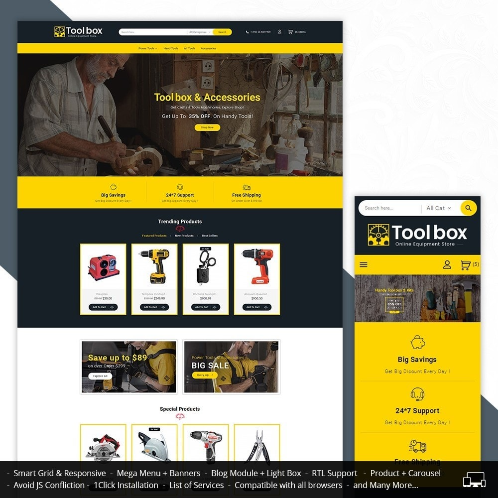 theme - Coches y Motos - Tools Store - 2