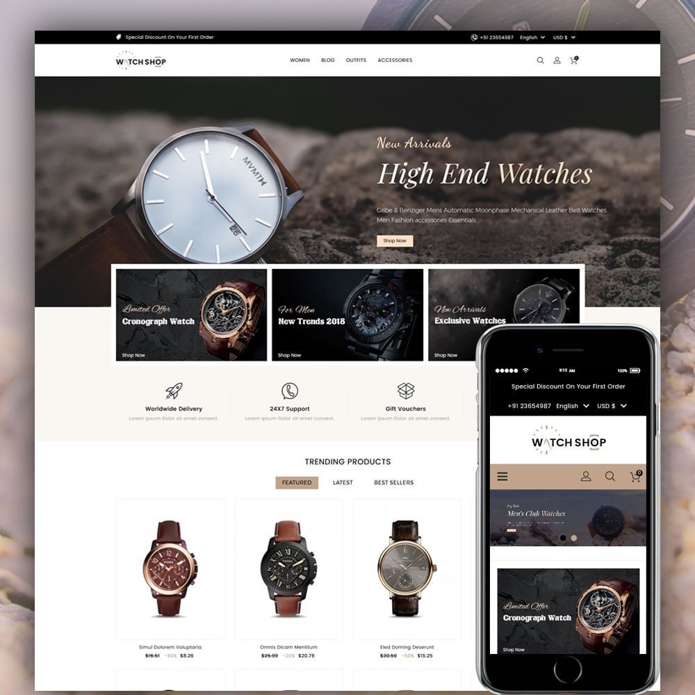 theme - Jewelry & Accessories - Watch Shop - 1