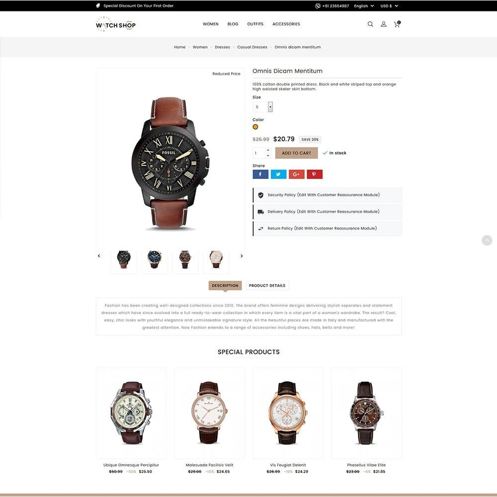 theme - Schmuck & Accesoires - Watch Shop - 6