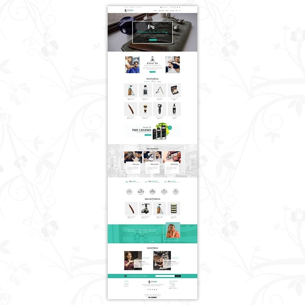 theme - Gezondheid & Schoonheid - Styleme - Barber Store - 2