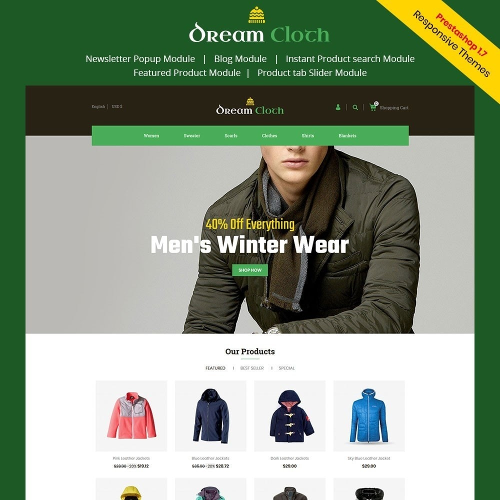 theme - Mode & Chaussures - Dream Cloth Store - 1