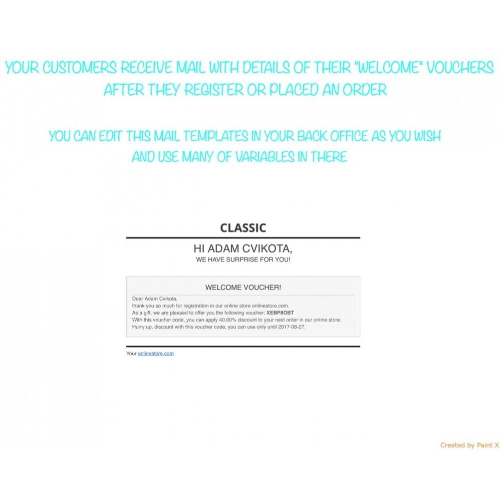 module - Promozioni & Regali - Invio automatico voucher dopo la registrazione/l'ordine - 4