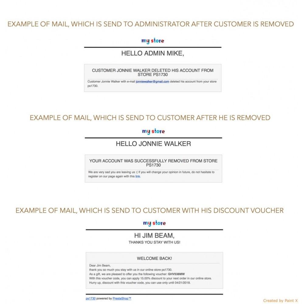 module - Legale (Legge Europea) - GDPR Cancellazione account cliente con opzioni avanzate - 7