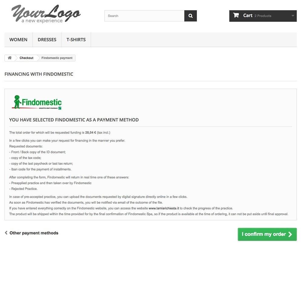 module - Autres moyens de paiement - Findomestic - 3