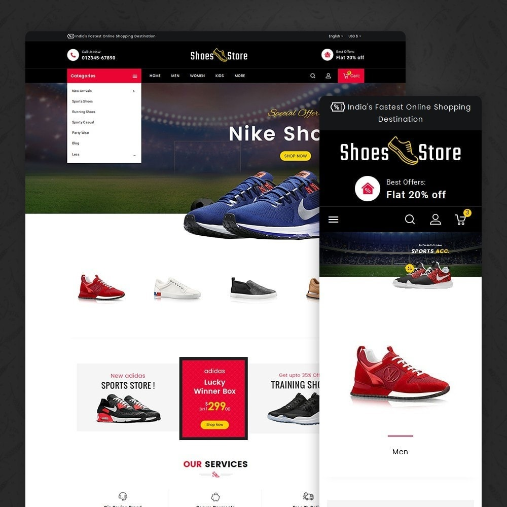 theme - Sport, Attività & Viaggi - Sports Shoes Store - 2