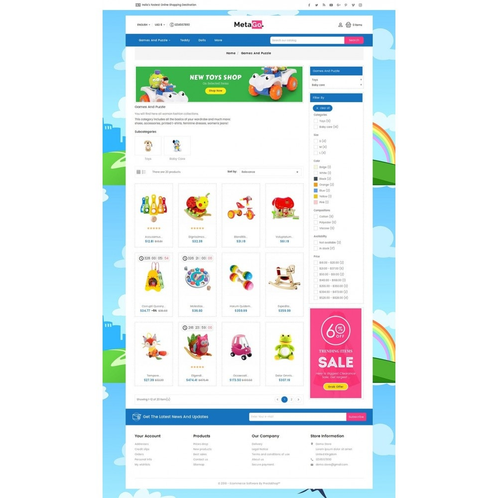 theme - Niños y Juguetes - Melano Kids Toys - 4