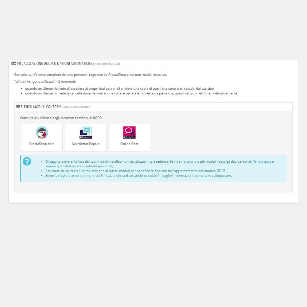 module - Legale (Legge Europea) - Ufficiale Conformità GDPR (1.7) - 3