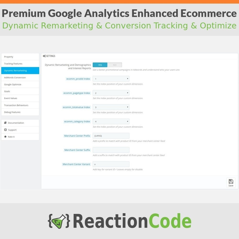 module - Informes y Estadísticas - Premium Google Analytics Enhanced Ecommerce - 4