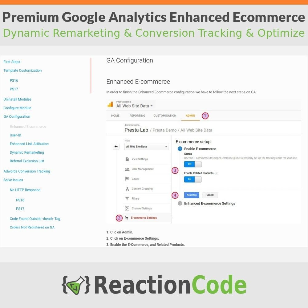 module - Analyses & Statistiques - Premium Google Analytics Enhanced Ecommerce - 13