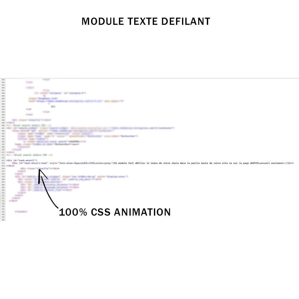 module - Outils de navigation - Texte défilant animé en css personnalisable - 3