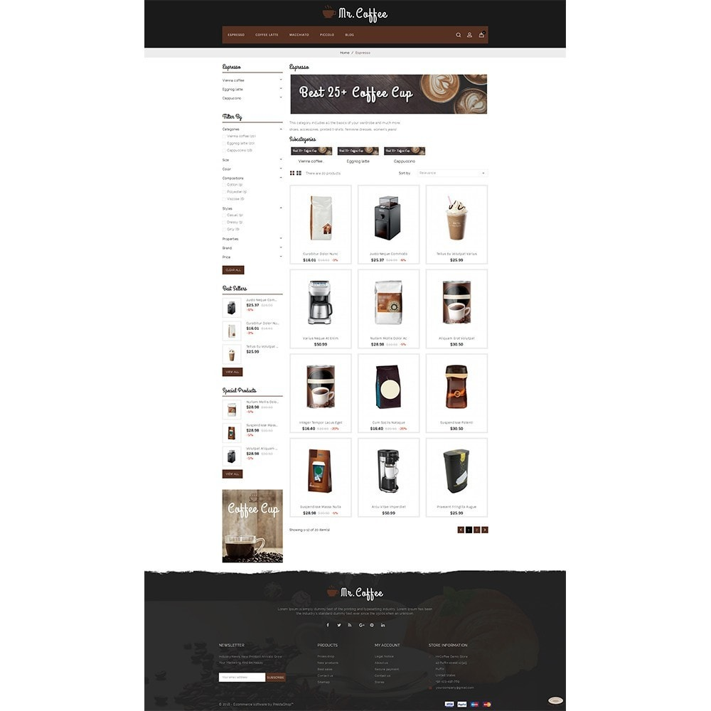 theme - Drink & Tobacco - MrCoffee Store - 3