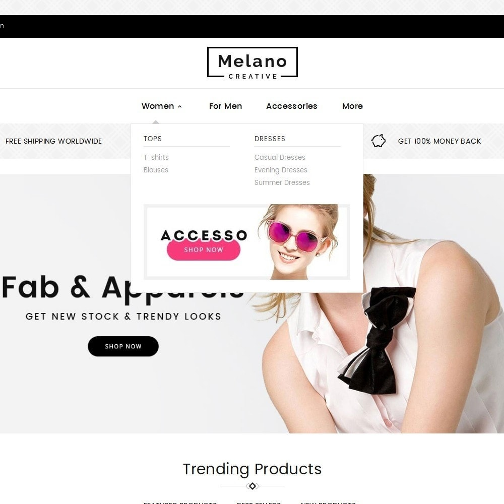 theme - Mode & Chaussures - Melano Creative Fashion - 9