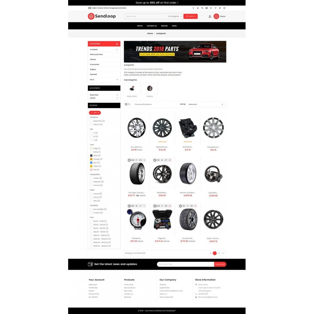 theme - Auto & Moto - Melano Auto Parts Loop - 4