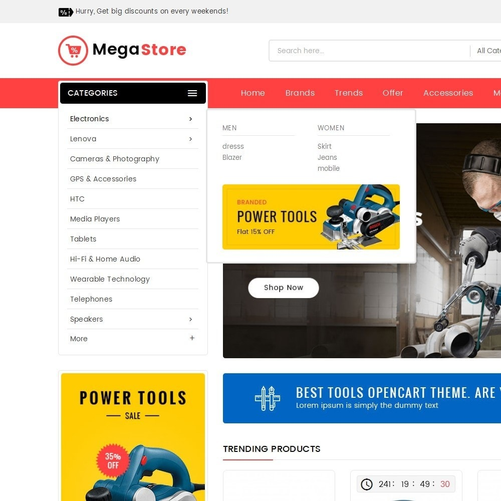 theme - Elettronica & High Tech - Mega Power Tools Store - 9