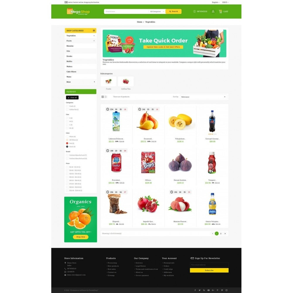 theme - Alimentation & Restauration - Mega Grocery Shop - 4