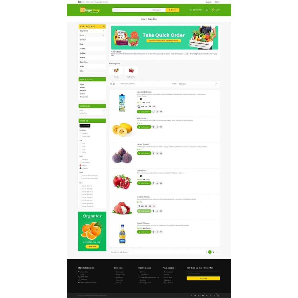 theme - Lebensmittel & Restaurants - Mega Grocery Shop - 5
