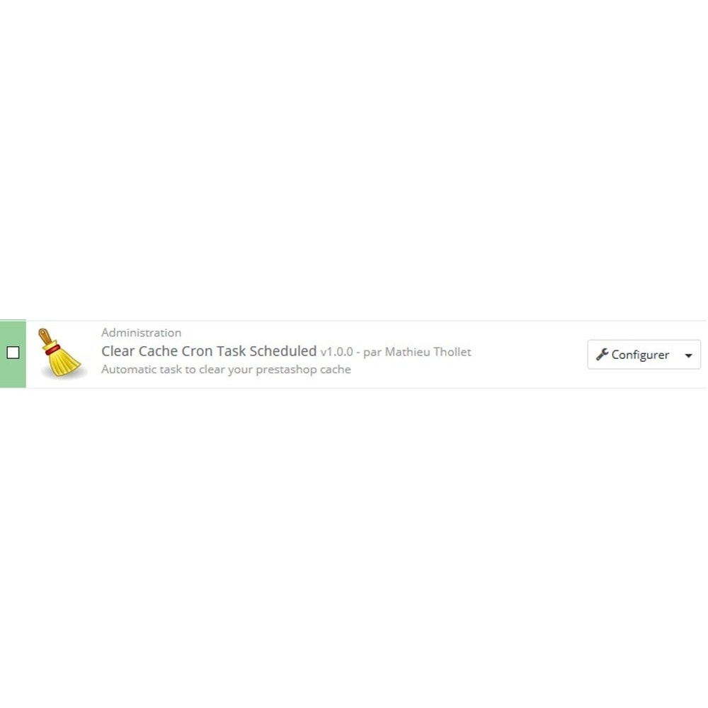 module - Rendimiento del sitio web - Borrar Tarea de cron de caché programada - 2