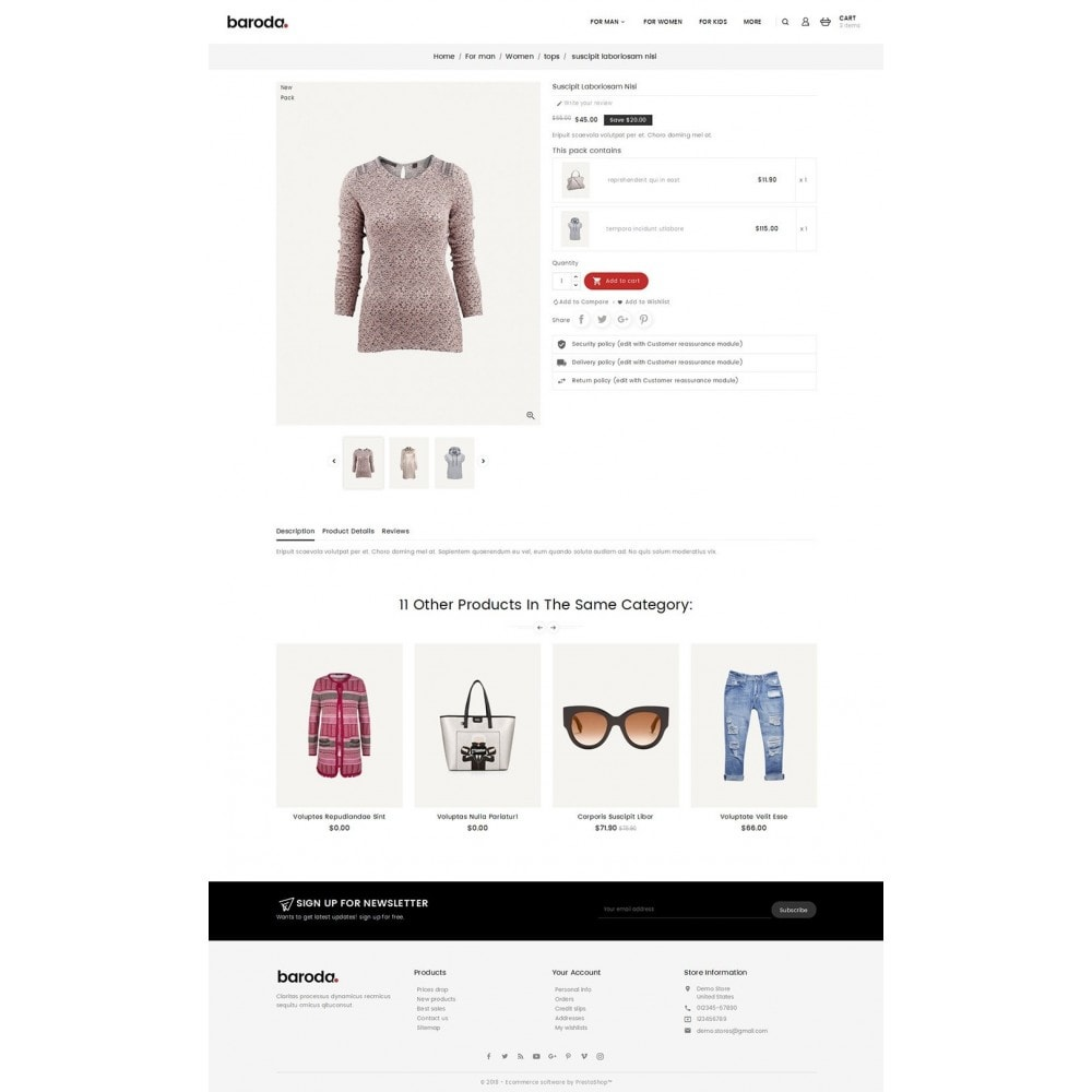 theme - Мода и обувь - Baroda Fabrics - 5
