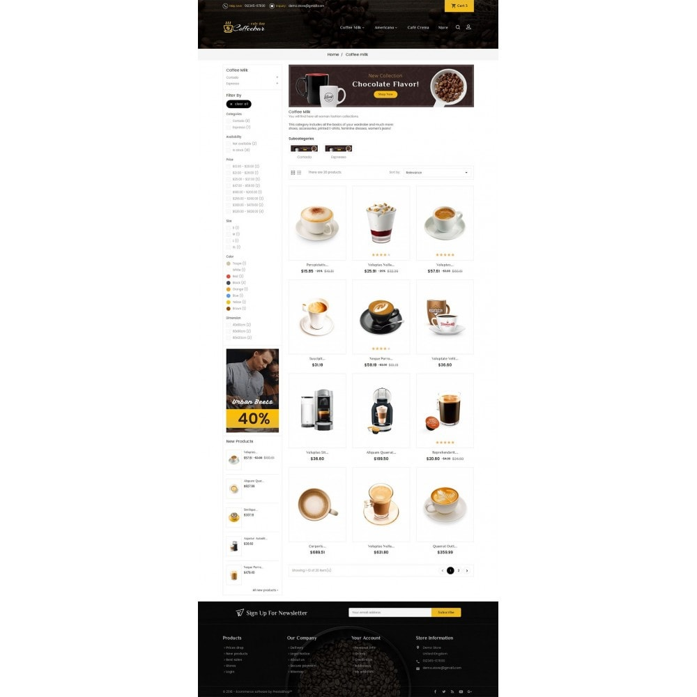 theme - Food & Restaurant - Coffee Bar - 3