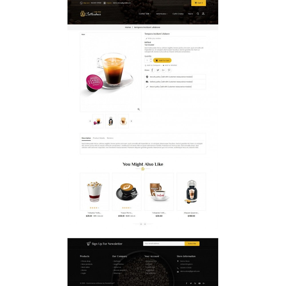 theme - Food & Restaurant - Coffee Bar - 5