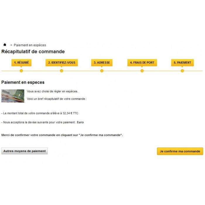 module - Payment in Physical Stores - Cash Payment / Paiement Espèces - 4