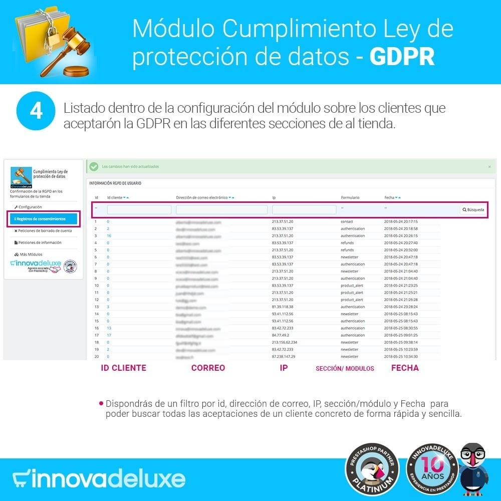 module - Marco Legal (Ley Europea) - Cumplimiento Ley de protección de datos - RGPD - 9