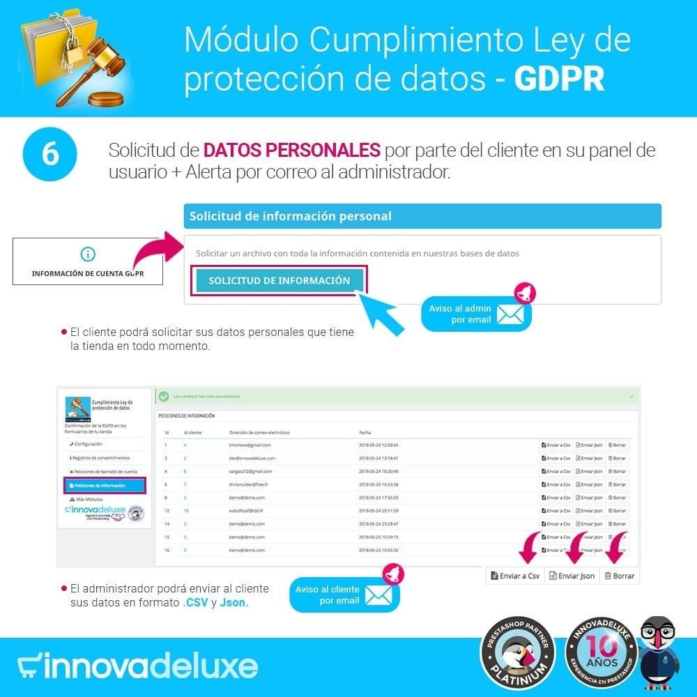 module - Marco Legal (Ley Europea) - Cumplimiento Ley de protección de datos - RGPD - 11