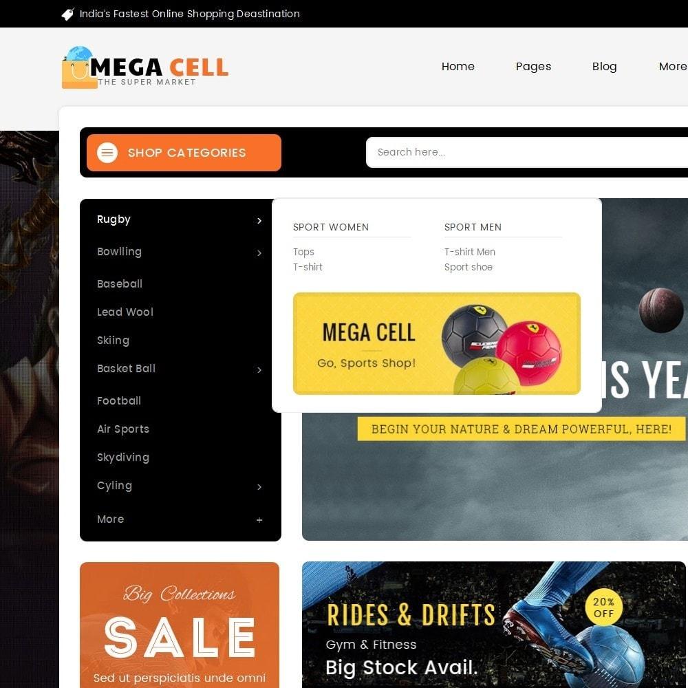 theme - Deportes, Actividades y Viajes - Mega Cell Sports Equipment - 9
