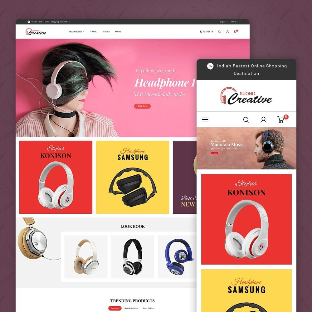 theme - Electronique & High Tech - Headphone & Speakers - 2