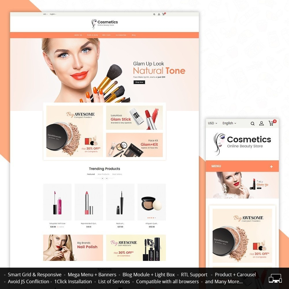 theme - Santé & Beauté - Cosmetic Store - 2