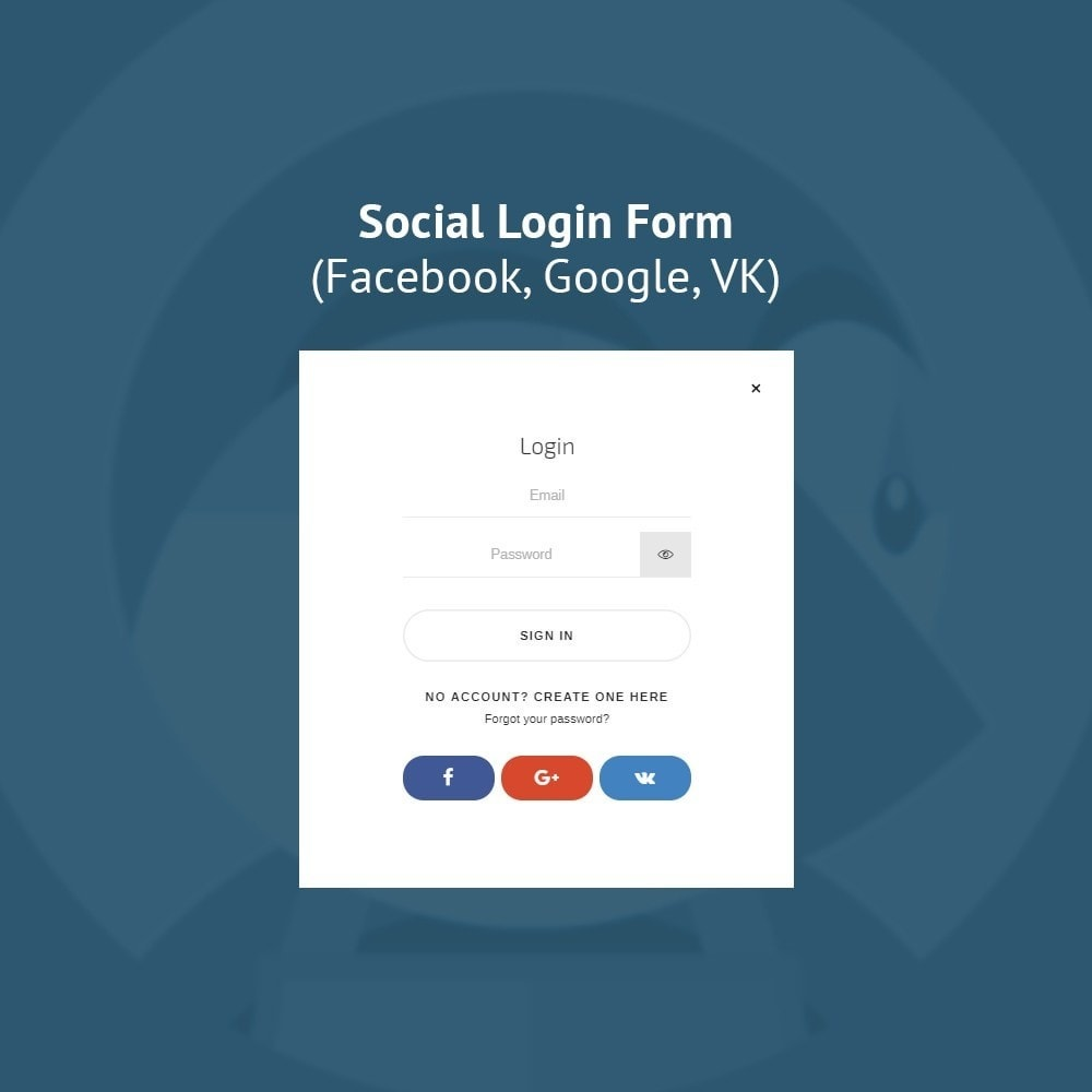 module - Social Login & Connect - JX Header Account 1.7 - 4