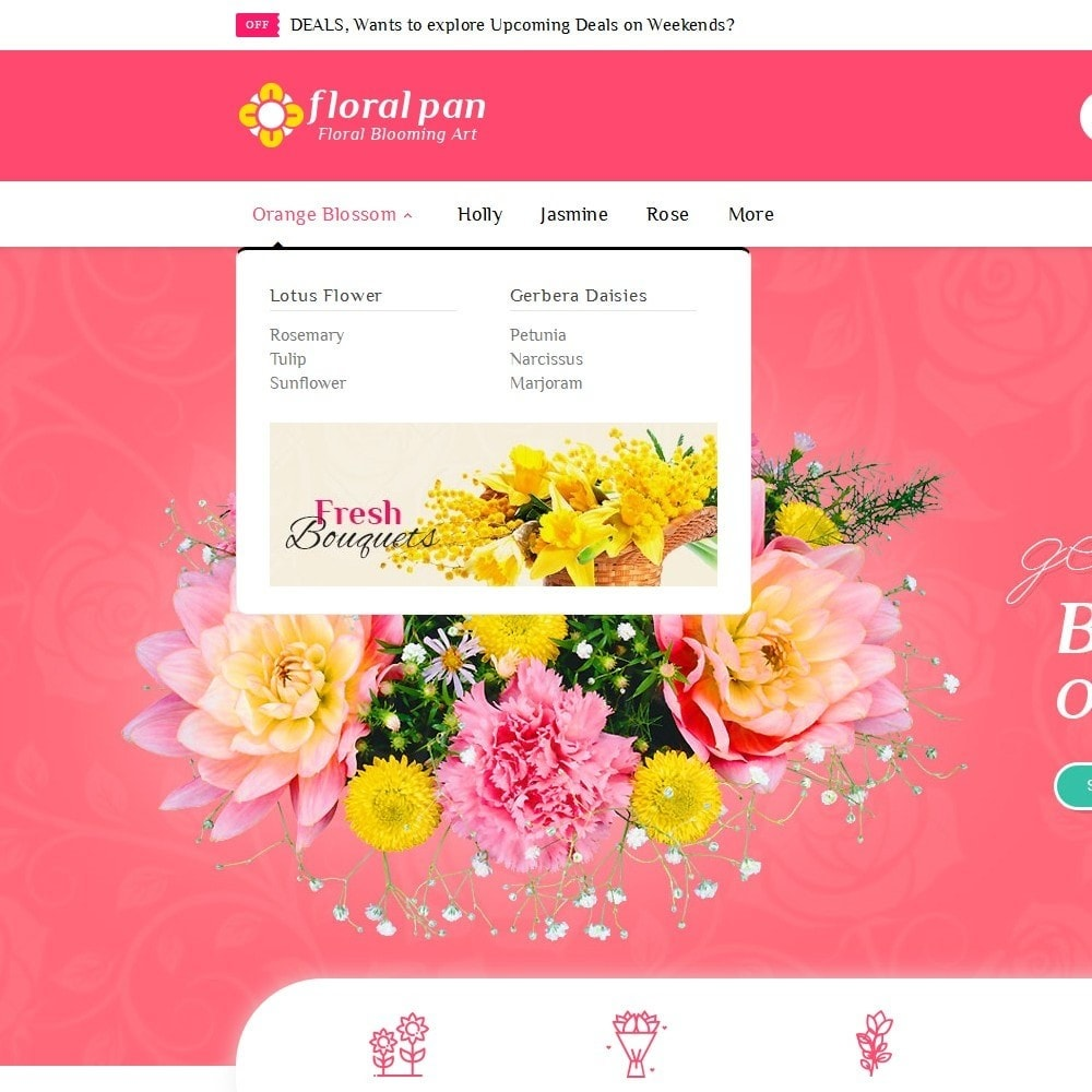 theme - Maison & Jardin - Floral Pan Bloom Works - 9