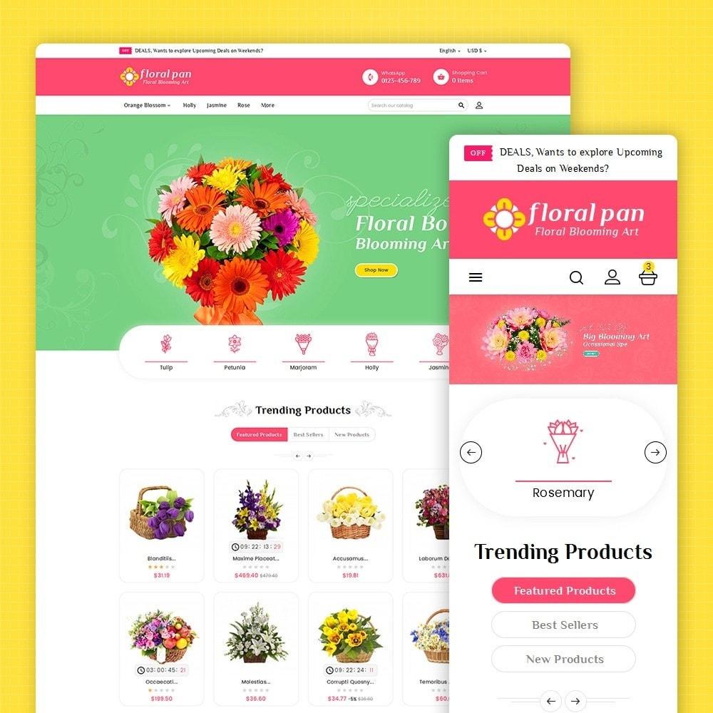 theme - Casa & Giardino - Floral Pan Bloom Works - 2
