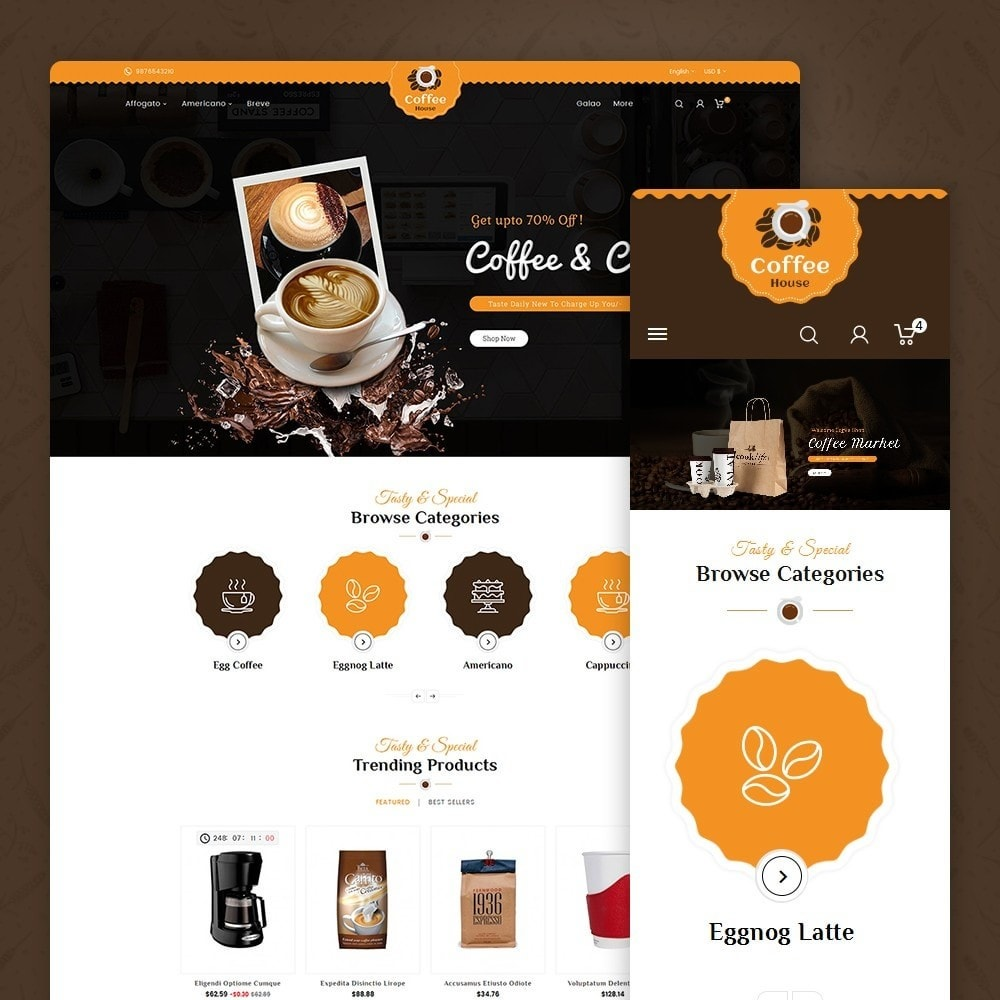 theme - Lebensmittel & Restaurants - Coffee House - 2