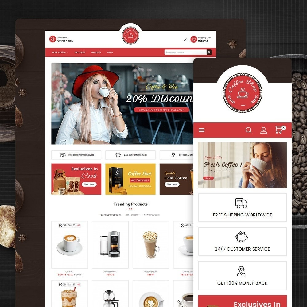 theme - Cibo & Ristorazione - Coffee Cafe Shop - 2