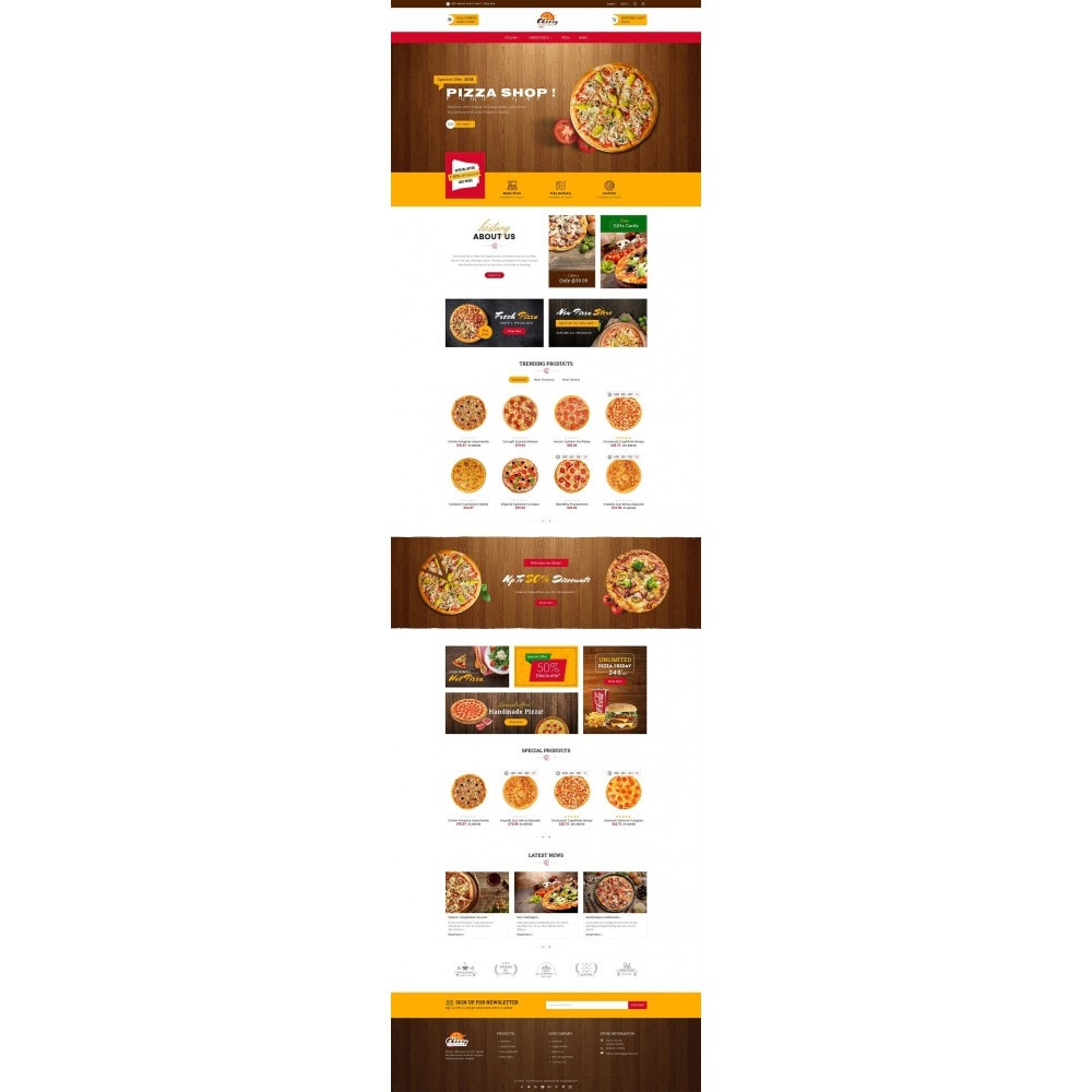 theme - Alimentation & Restauration - Cheesy Pizza - Fast Food - 3
