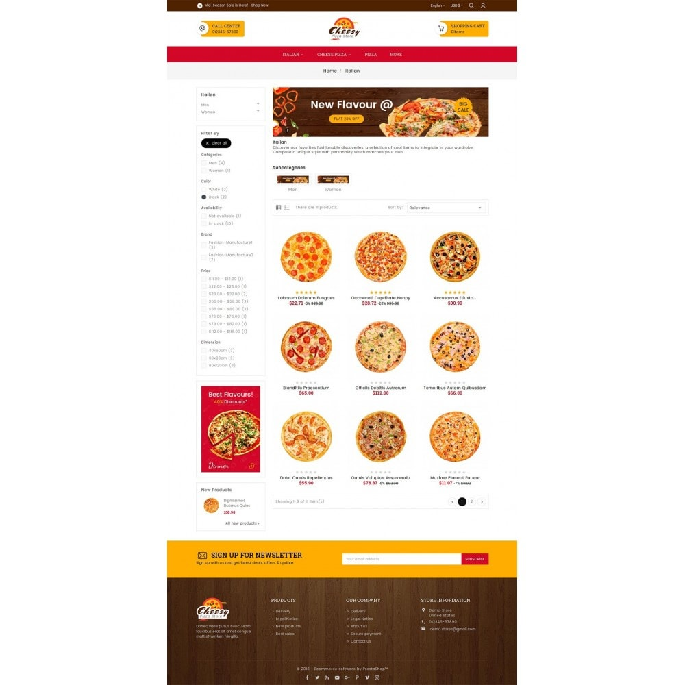 theme - Gastronomía y Restauración - Cheesy Pizza - Fast Food - 4