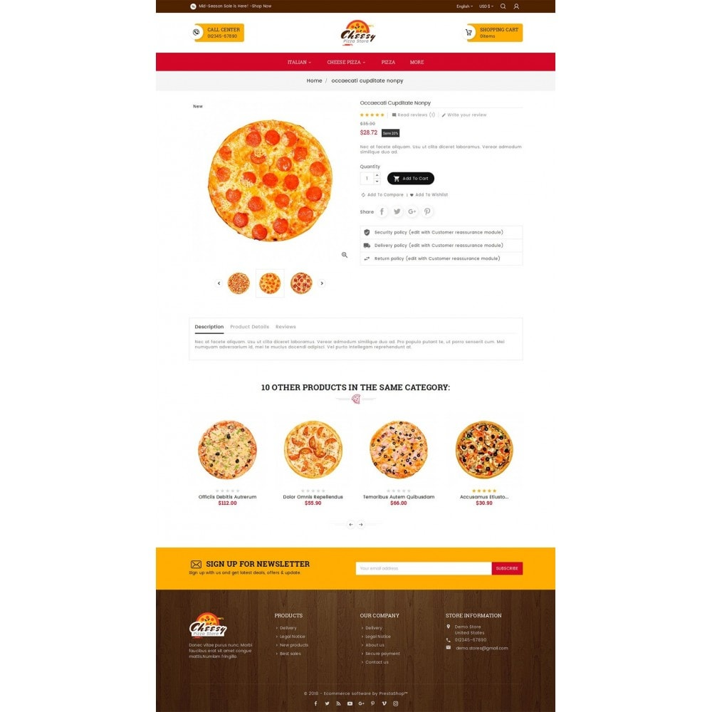 theme - Gastronomía y Restauración - Cheesy Pizza - Fast Food - 6