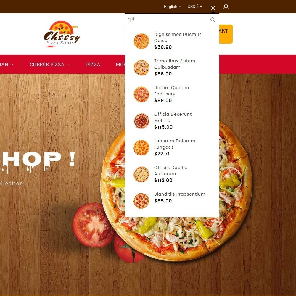 theme - Gastronomía y Restauración - Cheesy Pizza - Fast Food - 10