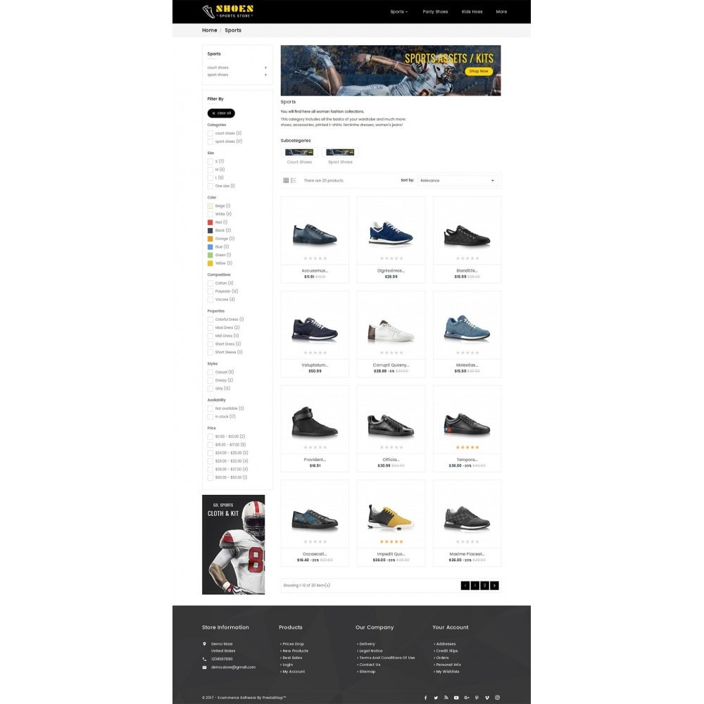 theme - Sport, Loisirs & Voyage - Shoes Sport Store - 4