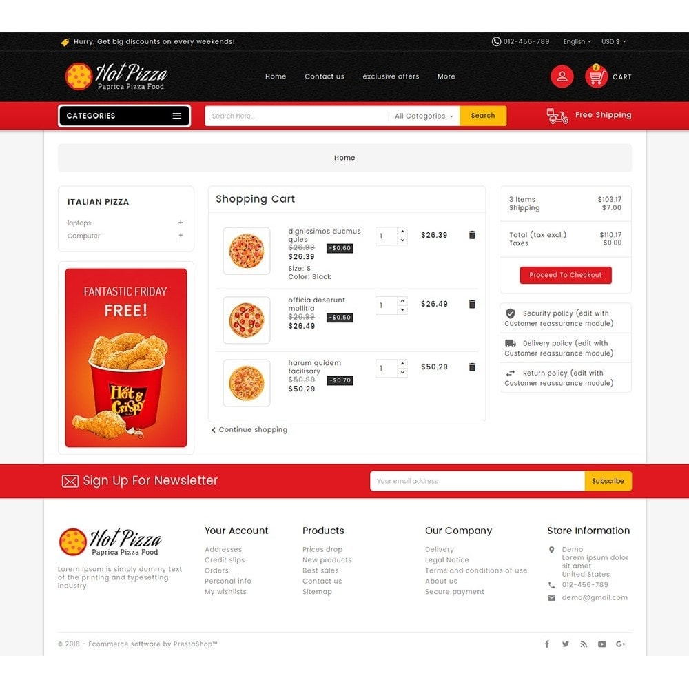 theme - Alimentation & Restauration - Paprika Pizza - Fast Food - 7