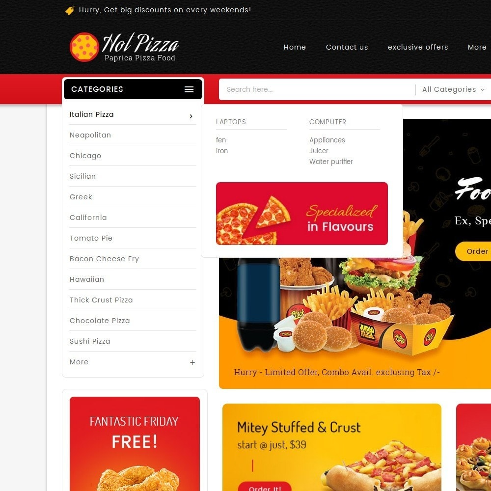 theme - Alimentation & Restauration - Paprika Pizza - Fast Food - 9