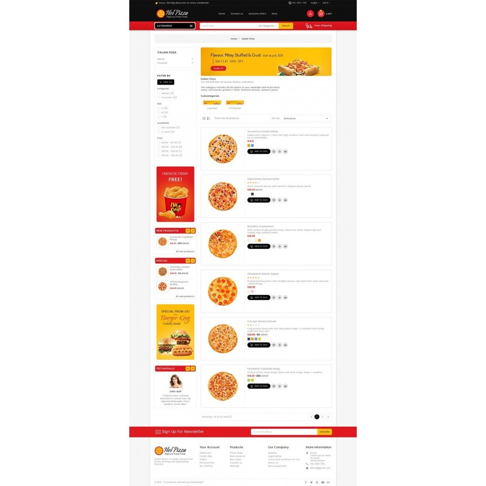 theme - Lebensmittel & Restaurants - Paprika Pizza - Fast Food - 5