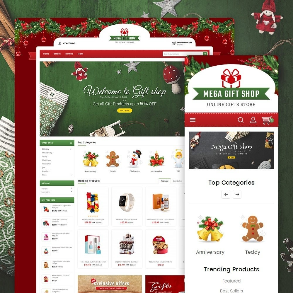 theme - Geschenke, Blumen & Feiern - Mega Gift Shop - 2