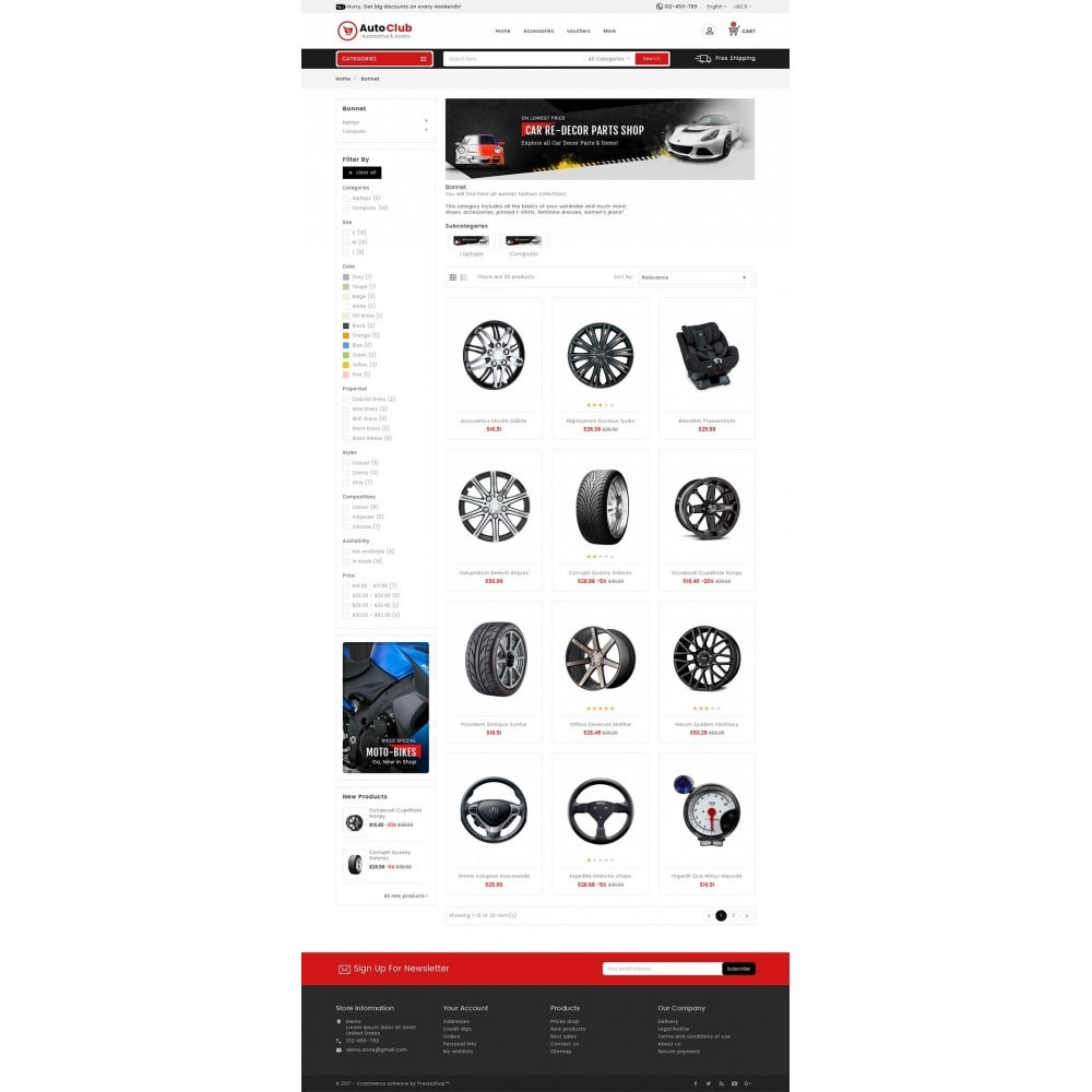 theme - Coches y Motos - Mega Auto Parts - 4