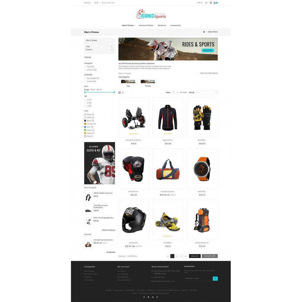 theme - Sport, Loisirs & Voyage - Iconic Sports Store - 4