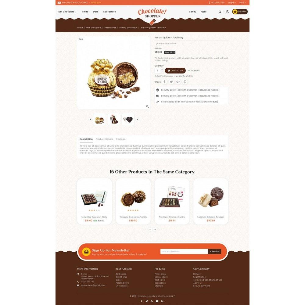 theme - Cadeaux, Fleurs et Fêtes - Chocolate Cream - 6