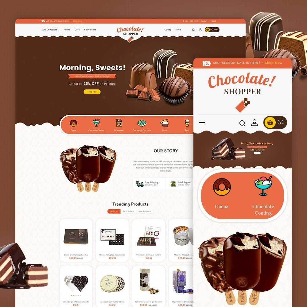 theme - Regalos, Flores y Celebraciones - Chocolate Cream - 2