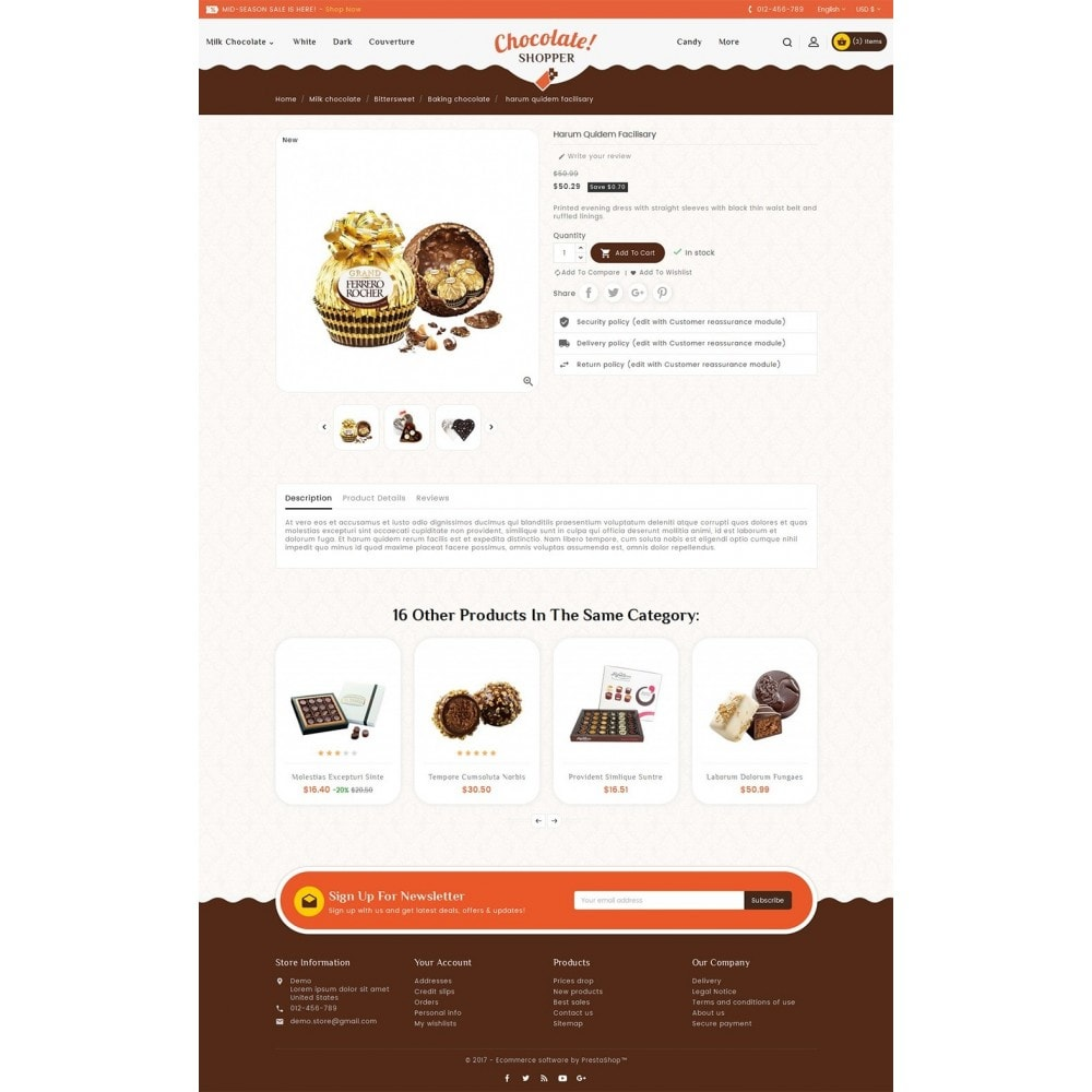 theme - Regalos, Flores y Celebraciones - Chocolate Cream - 6